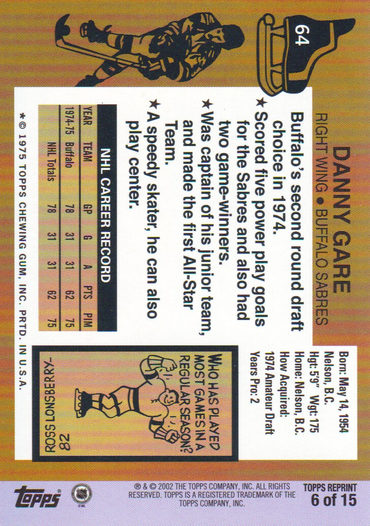 2002-03-Topps-Rookie-Reprint-Hockey-Cards-Pick-From-List miniature 5