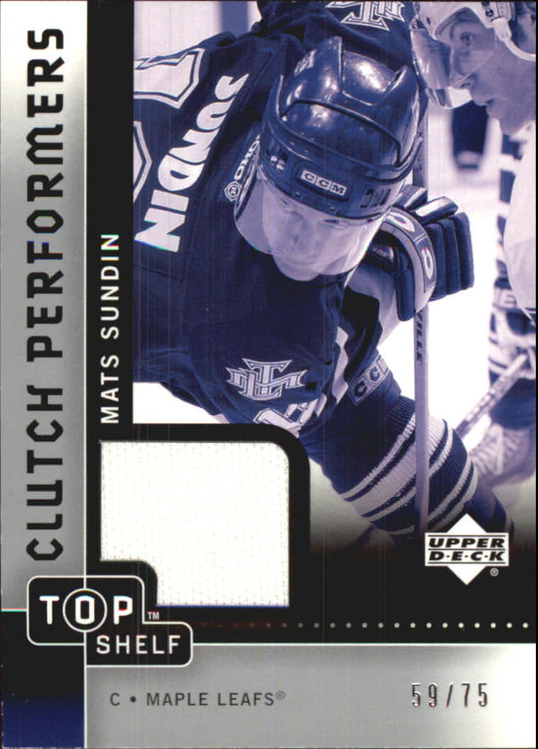 2002-03 UD Top Shelf Clutch Performers Jerseys #CPMS Mats Sundin