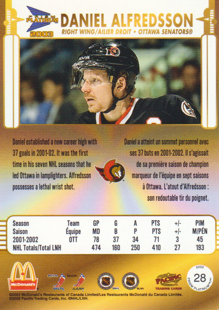 2002-03-McDonald-039-s-Pacific-Hockey-Cards-Pick-From-List miniature 7