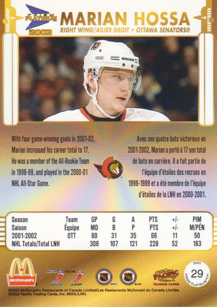 2002-03-McDonald-039-s-Pacific-Hockey-Cards-Pick-From-List miniature 9