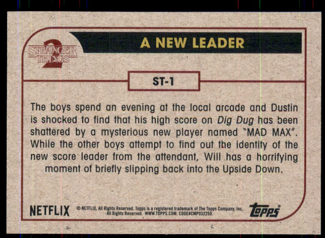 2019 Stranger Things Season 2 #1  A New Leader back image