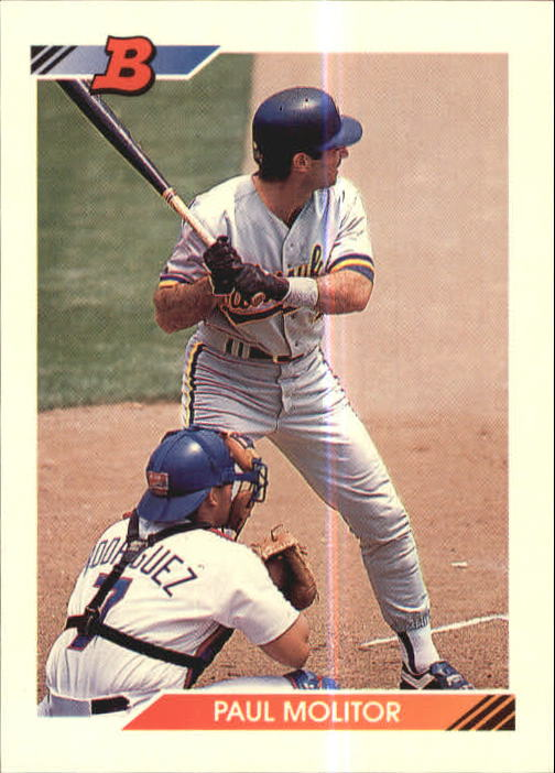Details About 1992 Bowman Baseball Card 375 Paul Molitor Brewers R15940
