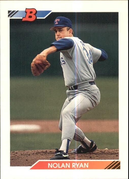 Details About 1992 Bowman Baseball Card 222 Nolan Ryan Rangers R16000