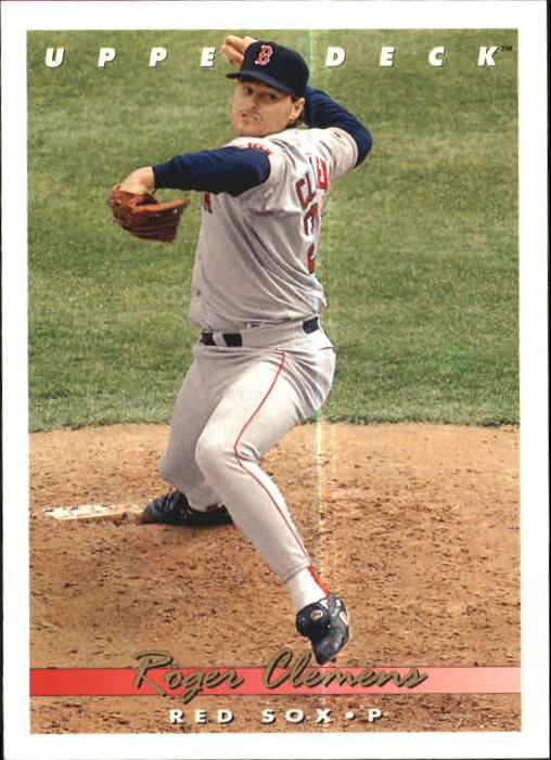 Details About 1993 Upper Deck Baseball Card 135 Roger Clemens Red Sox R16735