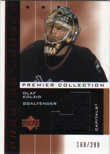 2002-03 UD Premier Collection Jerseys Bronze #OK Olaf Kolzig
