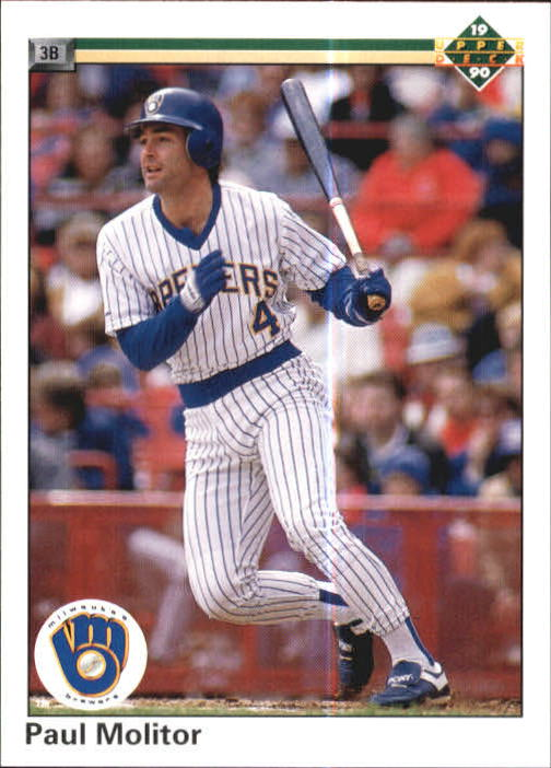 Details About 1990 Upper Deck Baseball Card 254 Paul Molitor Brewers R17934