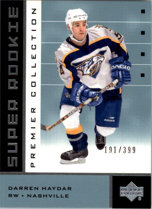 2002-03 UD Premier Collection #60B Darren Haydar RC