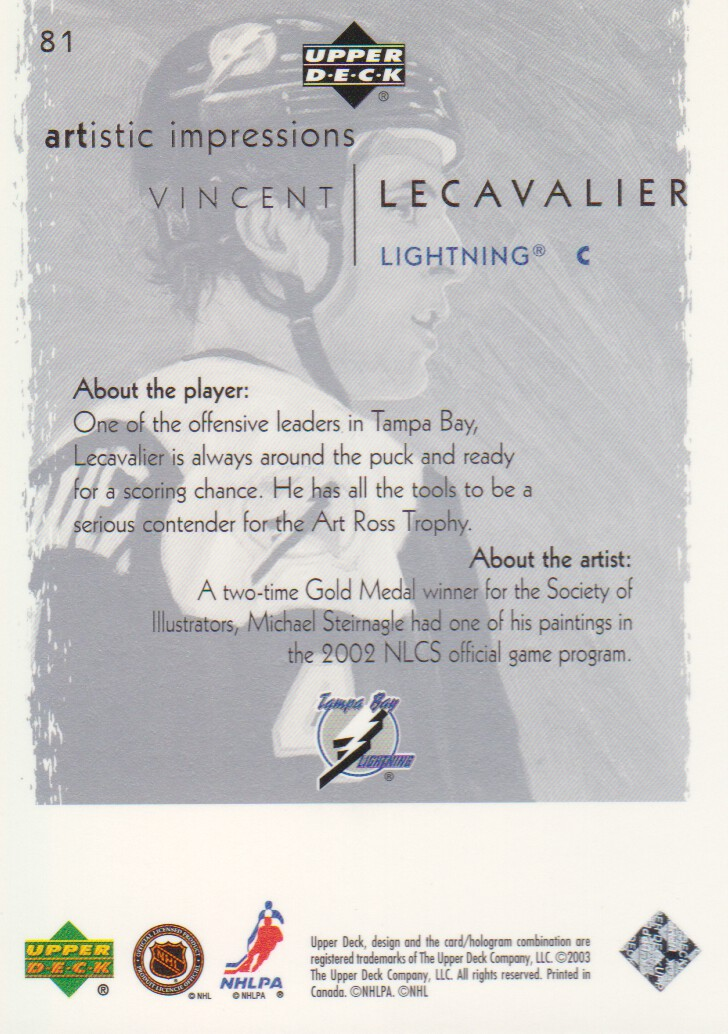 2002-03-UD-Artistic-Impressions-Hockey-Cards-Pick-From-List miniature 145
