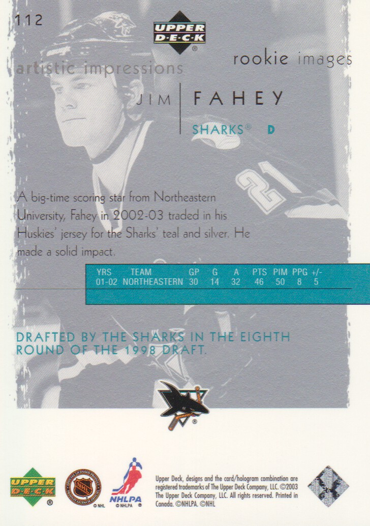 2002-03-UD-Artistic-Impressions-Hockey-Cards-Pick-From-List miniature 165