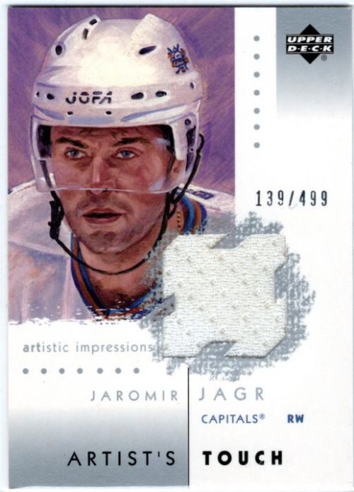 2002-03 UD Artistic Impressions Artist's Touch Jerseys #ATJJ Jaromir Jagr