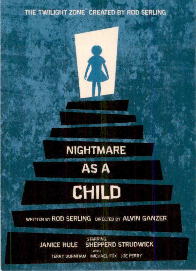 2019 Twilight Zone Rod Serling Edition Twilight Zone Portfolio Prints The Serling Episodes #J23 Nightmare As A Child