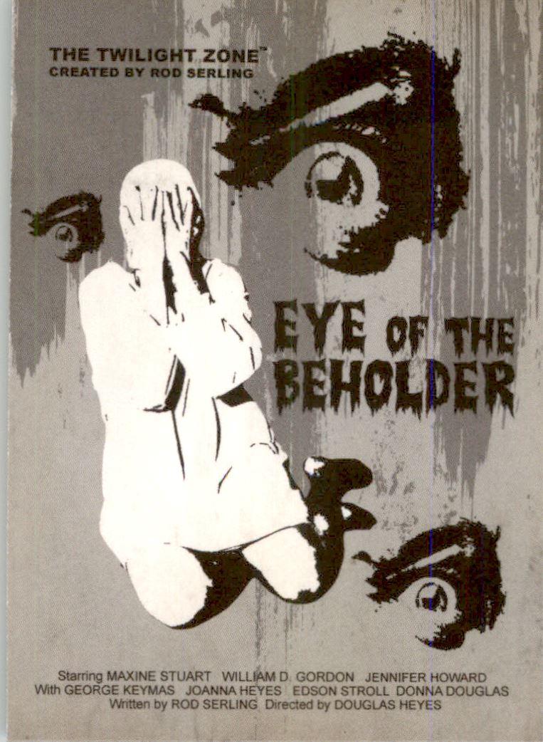 2019 Twilight Zone Rod Serling Edition Twilight Zone Portfolio Prints The Serling Episodes #J33 Eye Of The Beholder