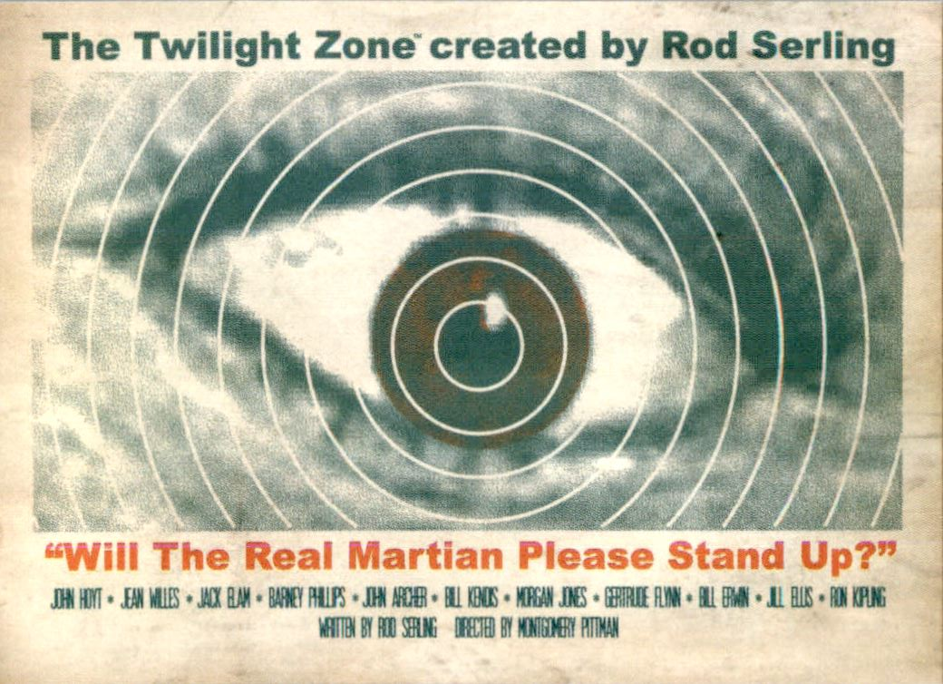 2019 Twilight Zone Rod Serling Edition Twilight Zone Portfolio Prints The Serling Episodes #J47 Will The Real Martian Please Stand Up?