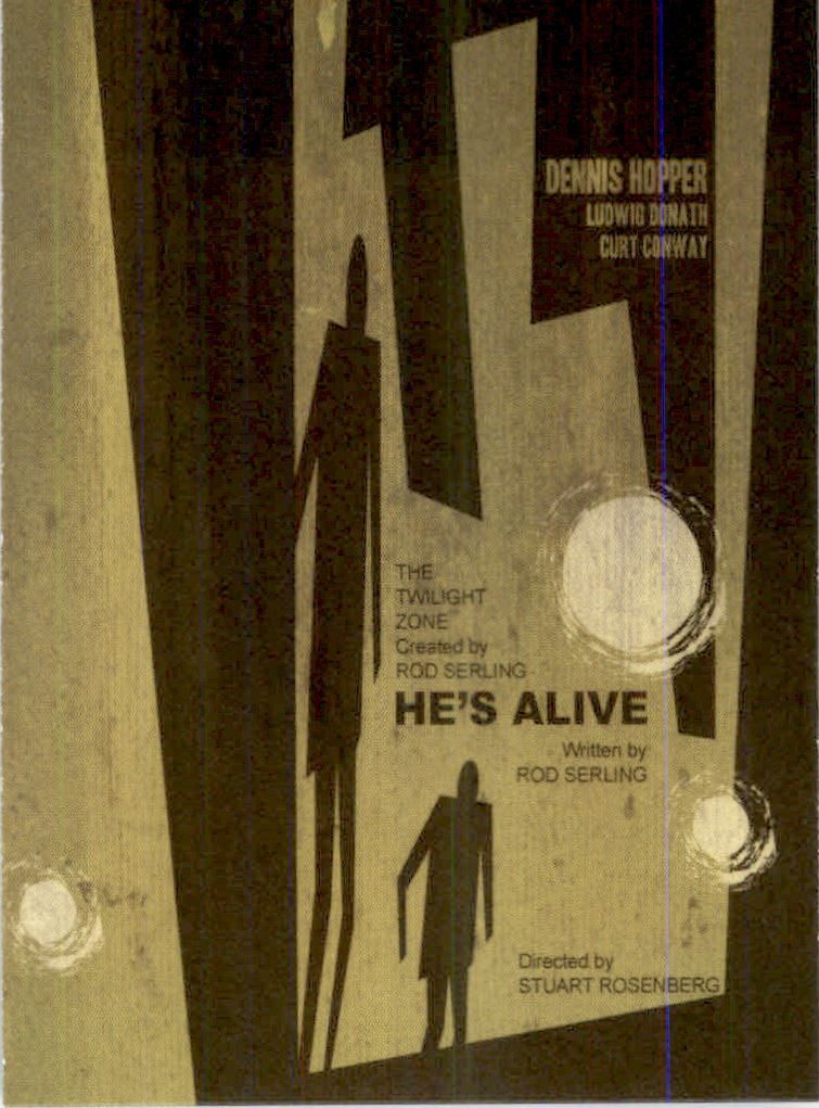 2019 Twilight Zone Rod Serling Edition Twilight Zone Portfolio Prints The Serling Episodes #J71 He�s Alive