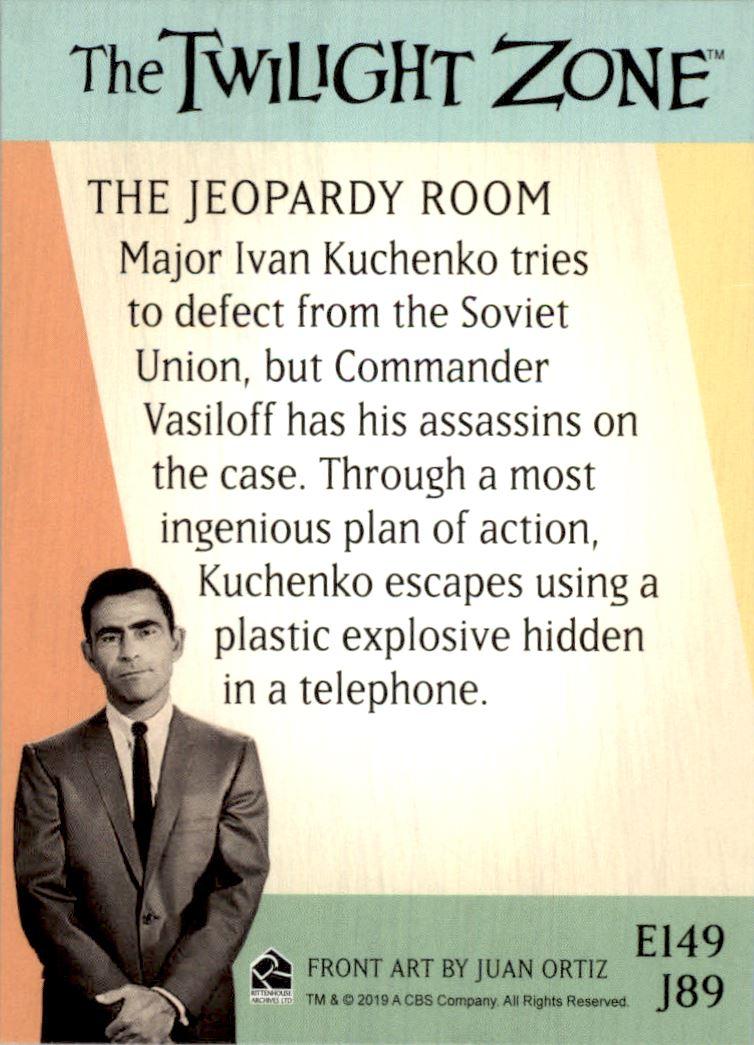 2019 Twilight Zone Rod Serling Edition Twilight Zone Portfolio Prints The Serling Episodes #J89 The Jeopardy Room back image