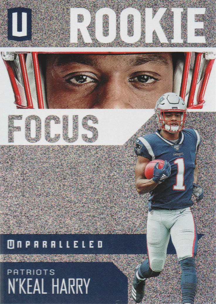 2019 Panini Unparalleled Rookie Focus #4 N'Keal Harry - NM-MT