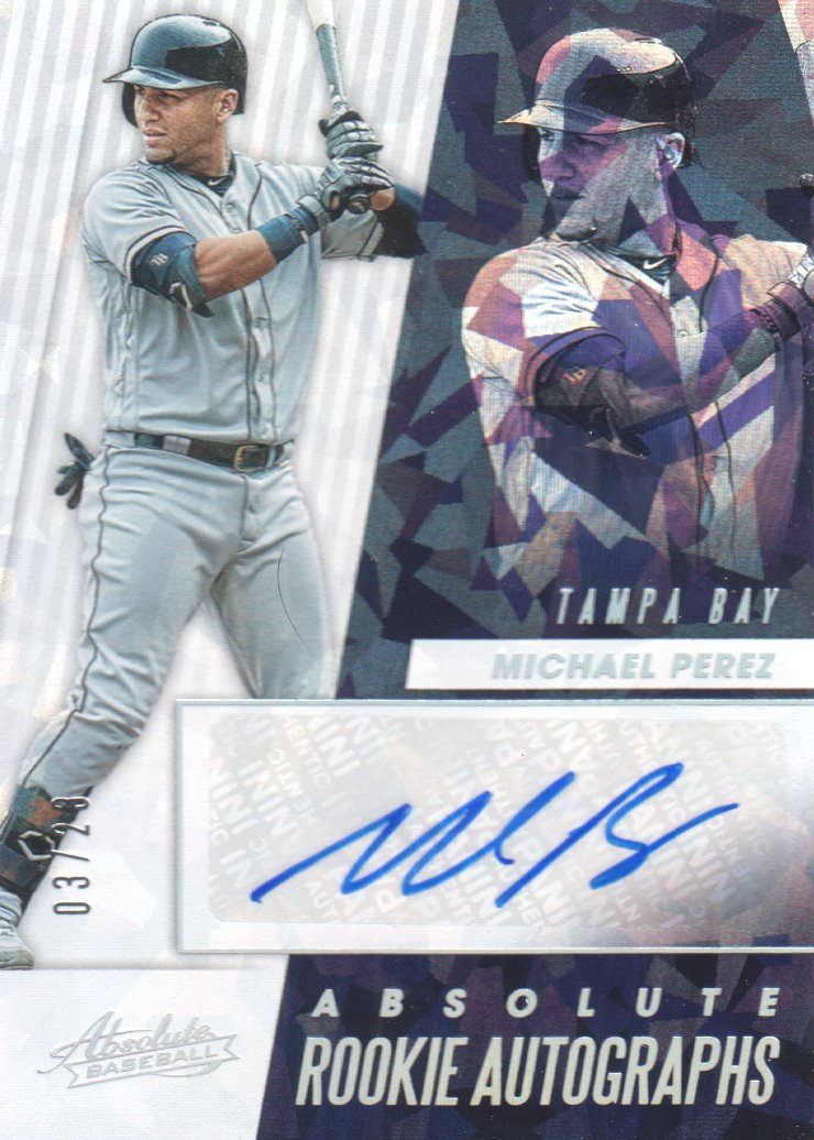 2019 Absolute Rookie Autographs Holo Silver #11 Michael Perez