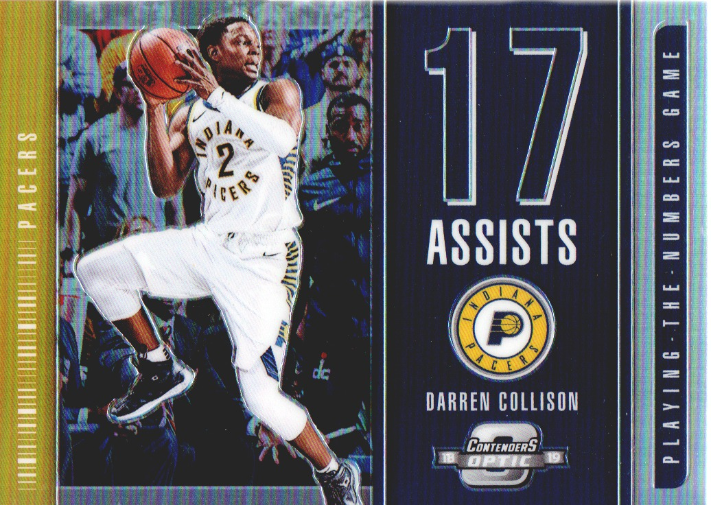 2018-19 Panini Contenders Optic Playing the Numbers Game #27 Darren Collison