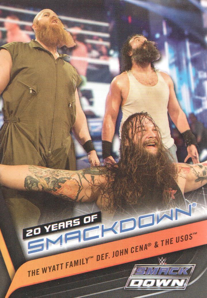2019 Topps WWE Smackdown Live 20 Years of SmackDown #SD-34 The Wyatt Family Wrestling Trading Card