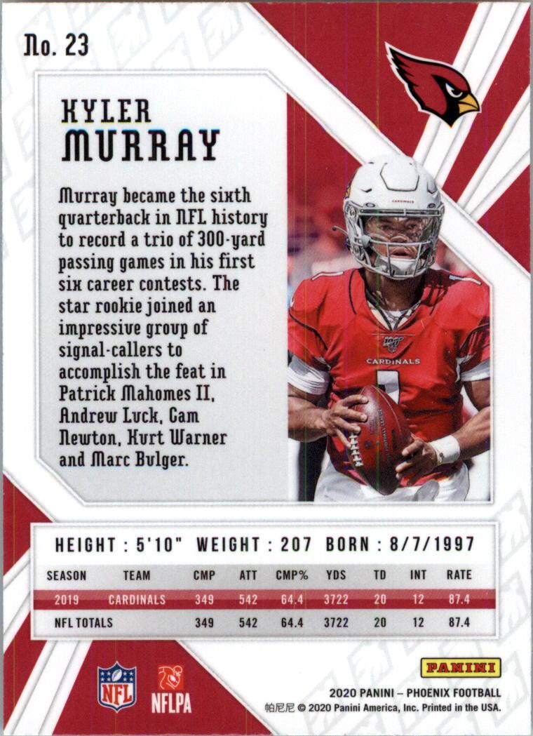 2020 Panini Phoenix Fire Burst #23 Kyler Murray Football Card