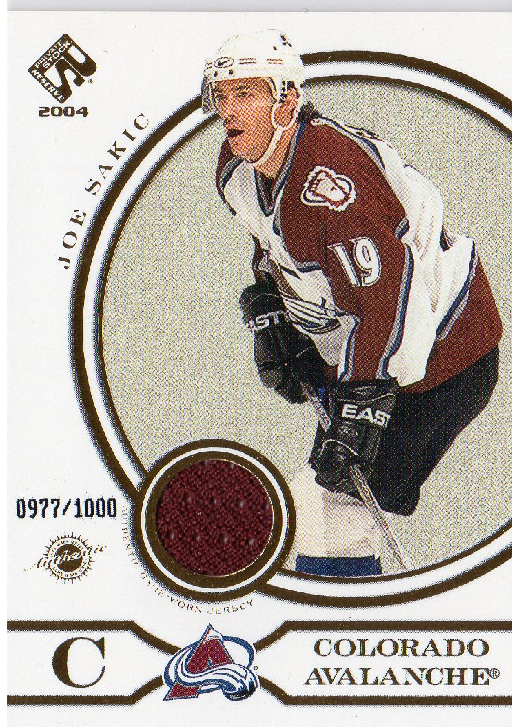 2003-04 Private Stock Reserve #158 Joe Sakic JSY/975