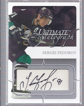 2003-04 BAP Ultimate Memorabilia Autographs #32 Sergei Fedorov