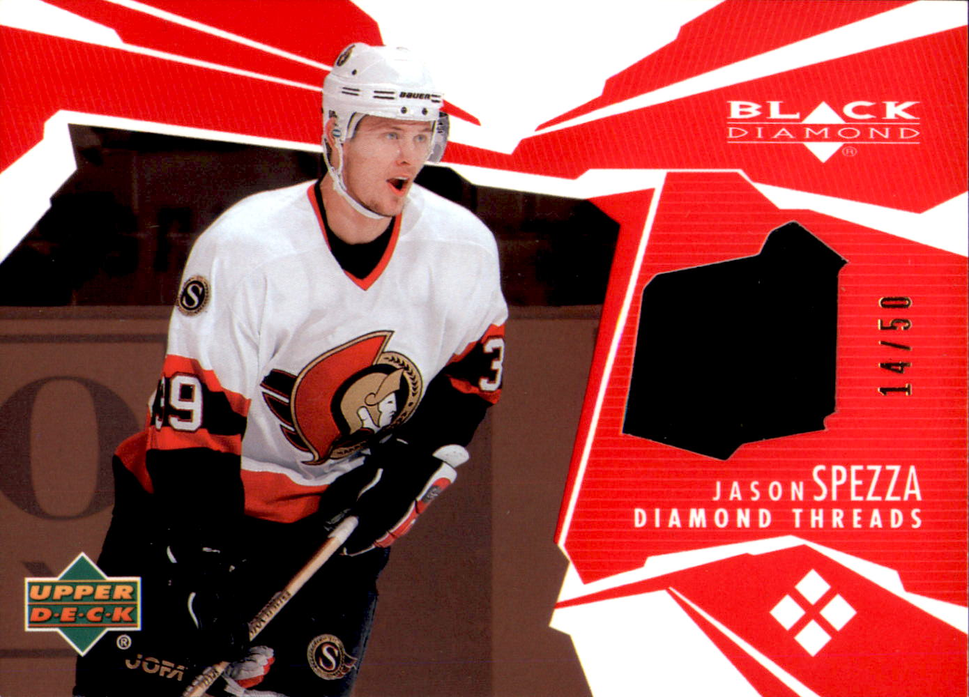 2003-04 Black Diamond Threads Red #DTJS Jason Spezza