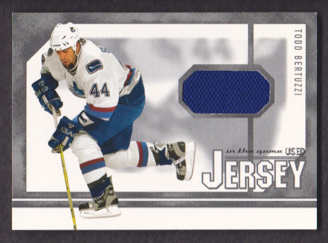 2003-04 ITG Used Signature Series Jerseys #48 Todd Bertuzzi