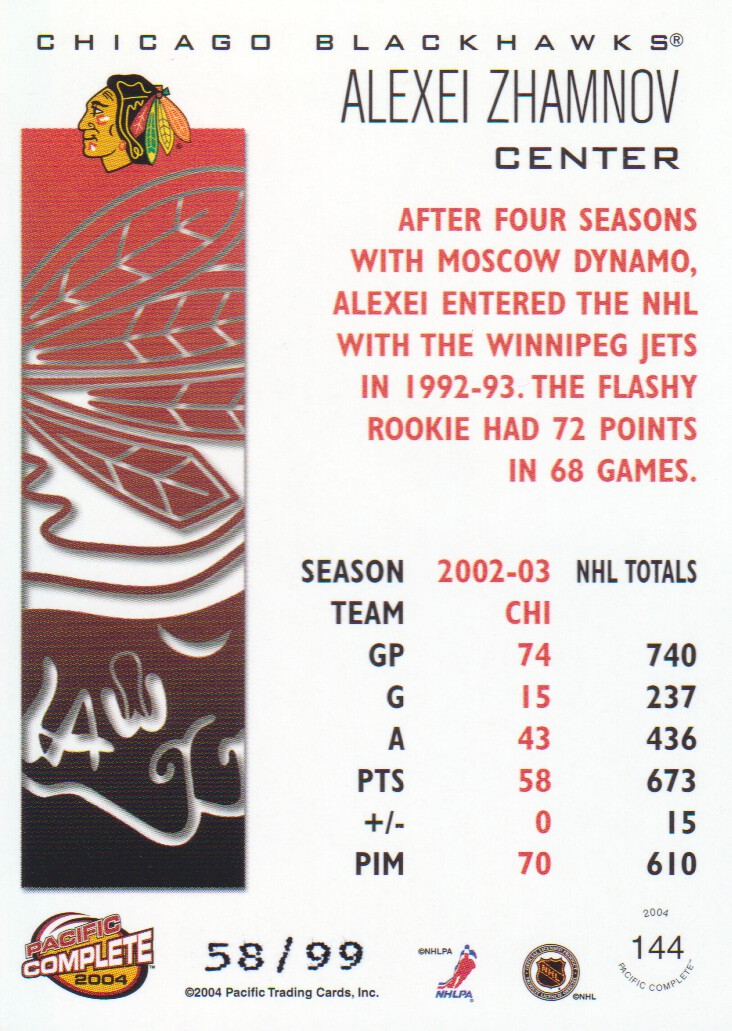 2003-04-Pacific-Complete-Red-Parallel-Hockey-Cards-Pick-From-List miniature 7