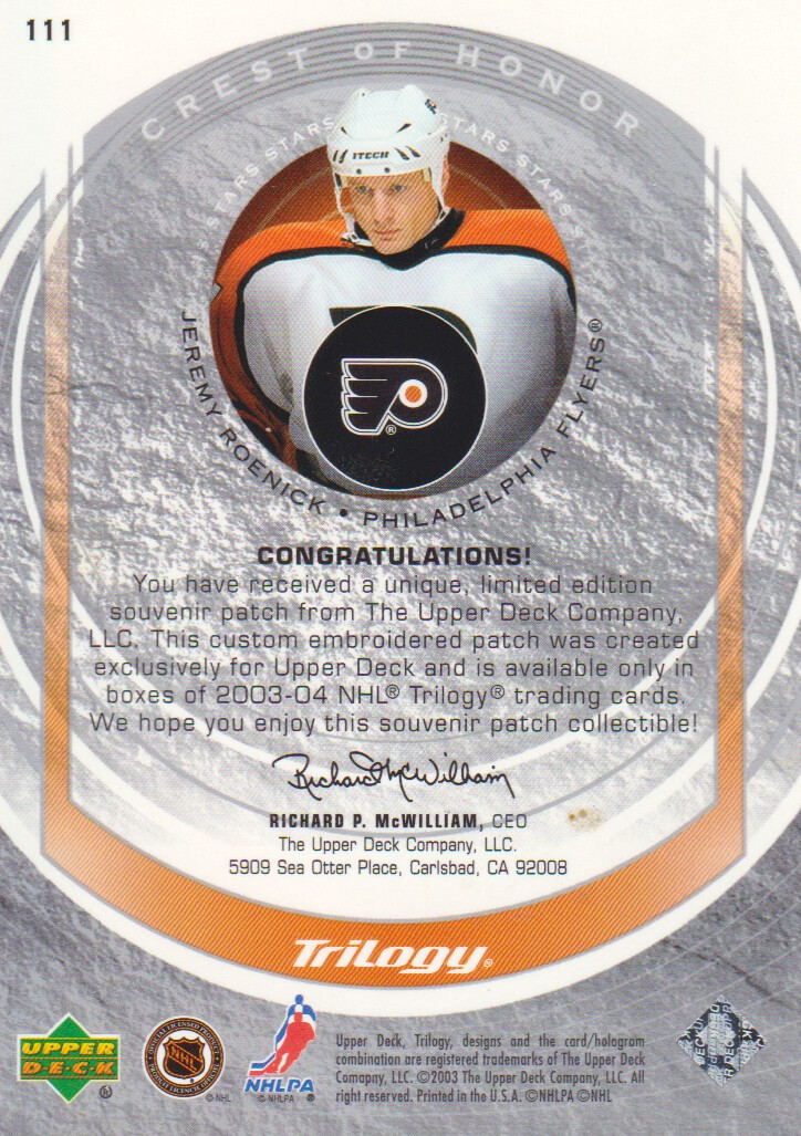 2003-04-Upper-Deck-Trilogy-Hockey-Cards-Pick-From-List thumbnail 155