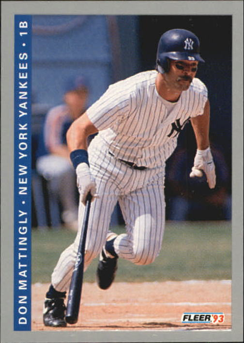 Details About 1993 Fleer Baseball Card 281 Don Mattingly Yankees R21912