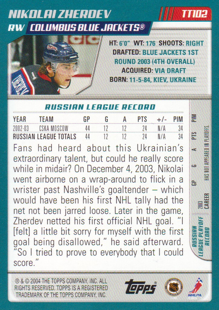 2003-04-Topps-Traded-Hockey-Cards-Pick-From-List