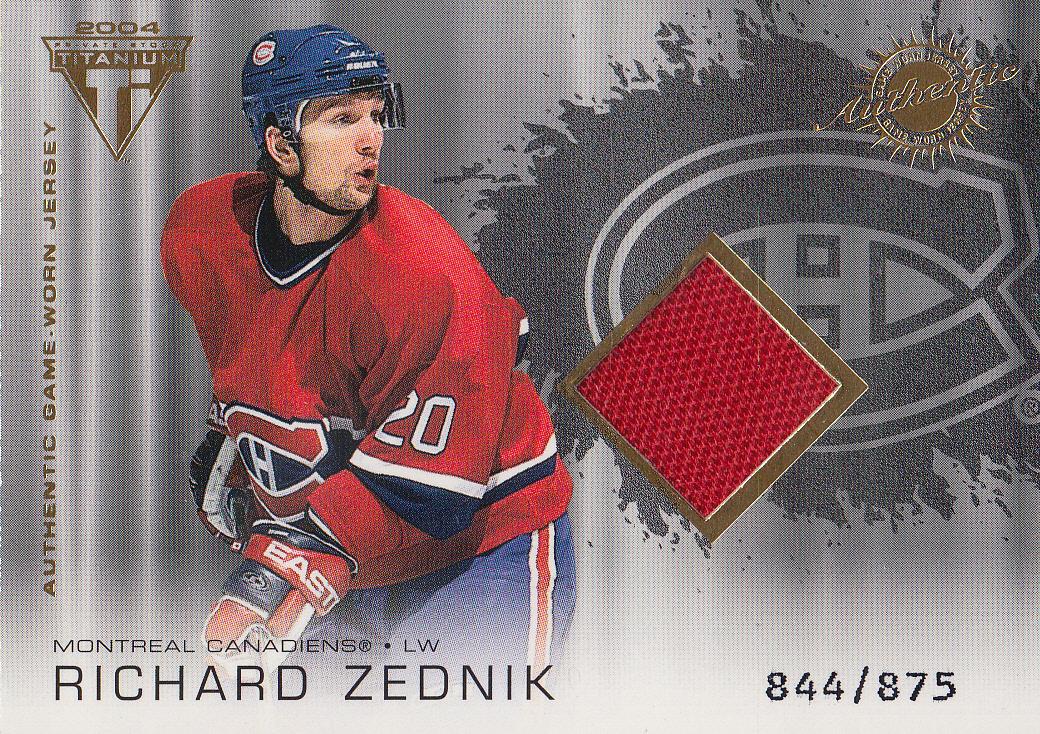 2003-04 Titanium #163 Richard Zednik JSY