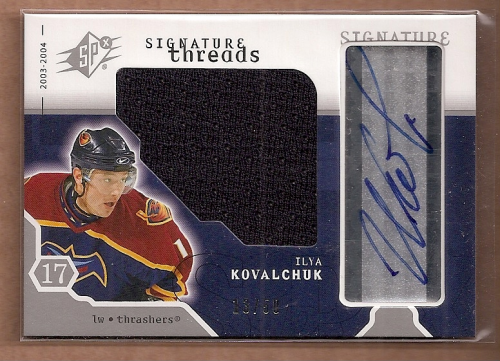 2003-04 SPx Signature Threads #STIK Ilya Kovalchuk