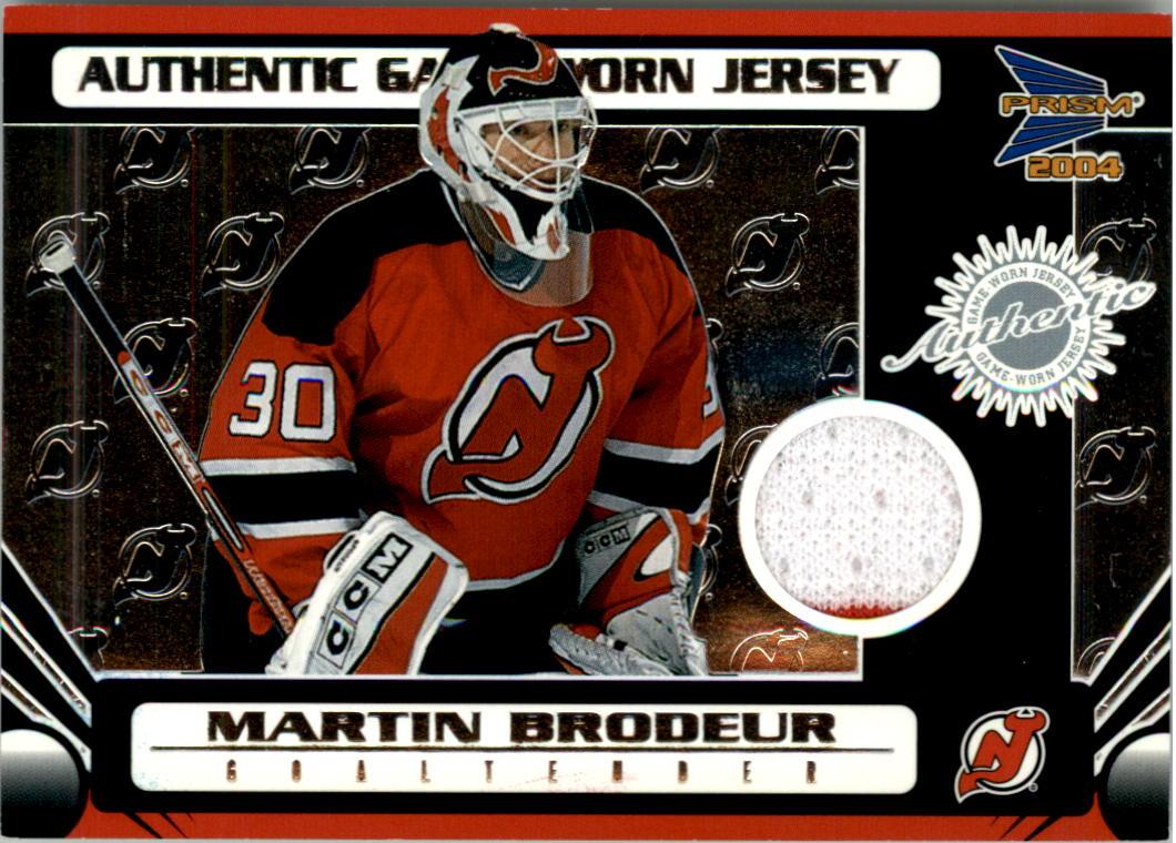 2003-04 Pacific Prism Retail Jerseys #127 Martin Brodeur