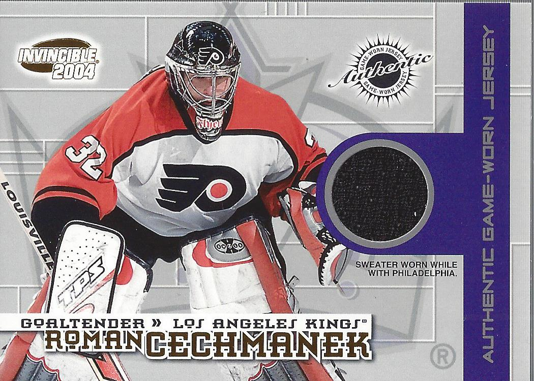 2003-04 Pacific Invincible Jerseys #13 Roman Cechmanek