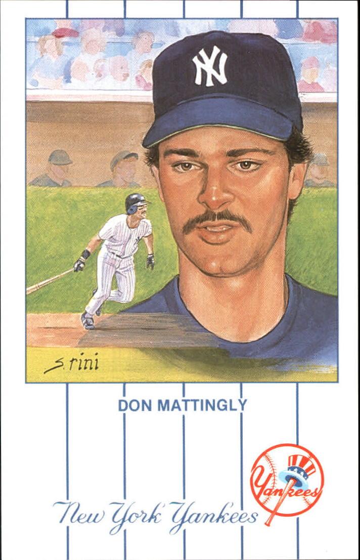 1990s Yankees Historic Editions Postcard 11 Don Mattingly O10877 Ebay