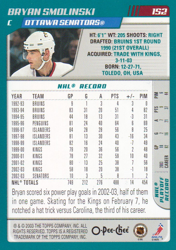 2003-04-O-Pee-Chee-OPC-Blue-Parallel-Hockey-Cards-Pick-From-List thumbnail 5