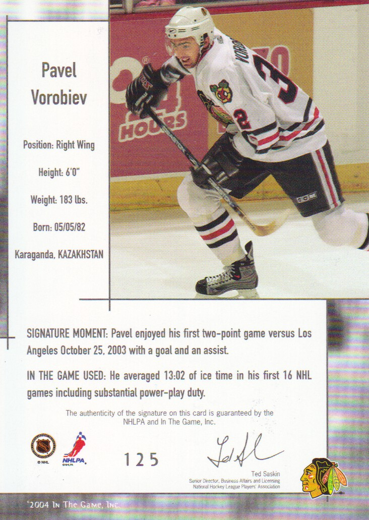 2003-04-ITG-Used-Signature-Series-Hockey-Cards-Pick-From-List miniature 9