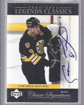 2004-05 UD Legends Classics Signatures #CS27 Cam Neely SP
