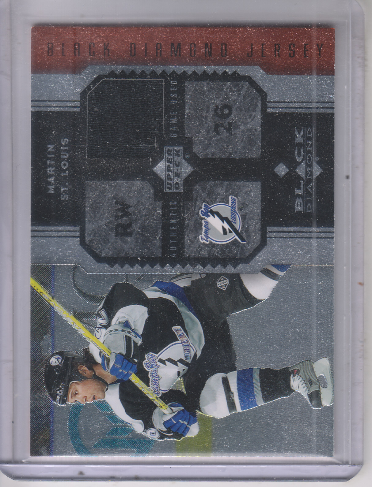 2005-06 Black Diamond Jerseys Ruby #JSL Martin St. Louis