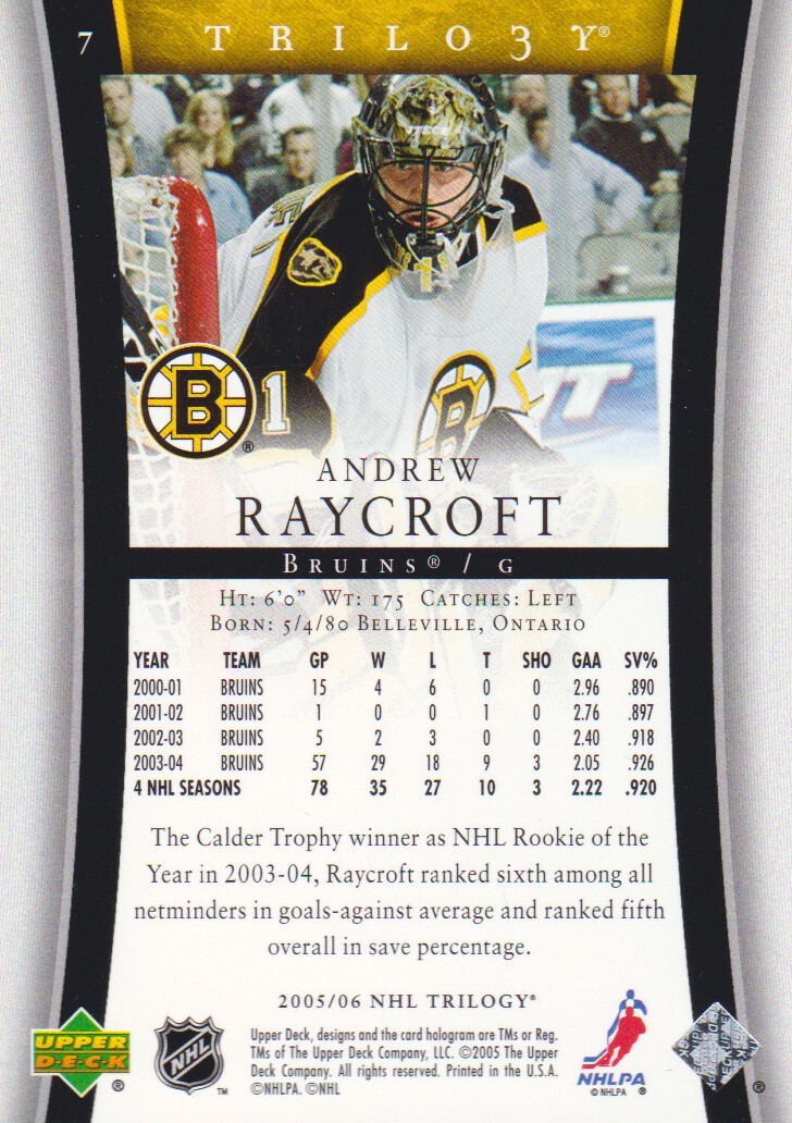 2005-06-Upper-Deck-Trilogy-Hockey-Cards-Pick-From-List thumbnail 7