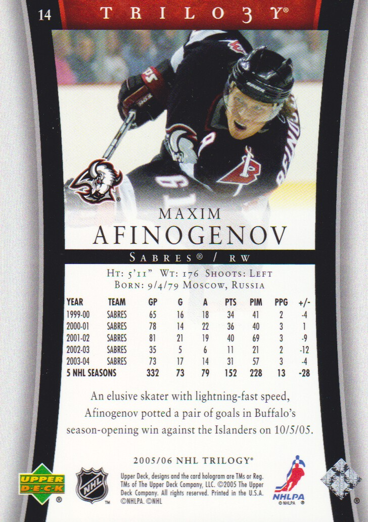 2005-06-Upper-Deck-Trilogy-Hockey-Cards-Pick-From-List thumbnail 13