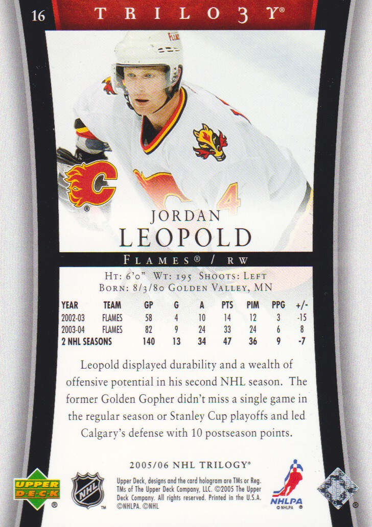 2005-06-Upper-Deck-Trilogy-Hockey-Cards-Pick-From-List thumbnail 15
