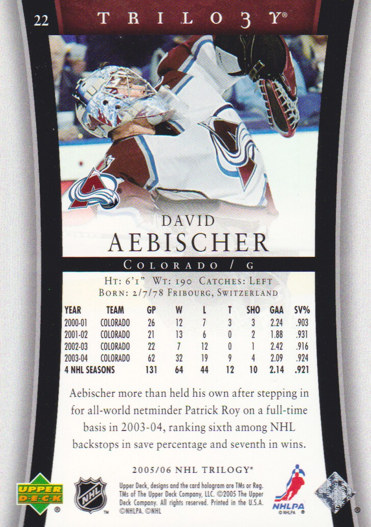 2005-06-Upper-Deck-Trilogy-Hockey-Cards-Pick-From-List thumbnail 17