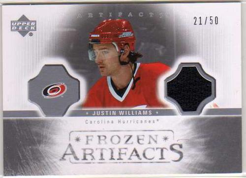 2005-06 Artifacts Frozen Artifacts Silver #FAJW Justin Williams