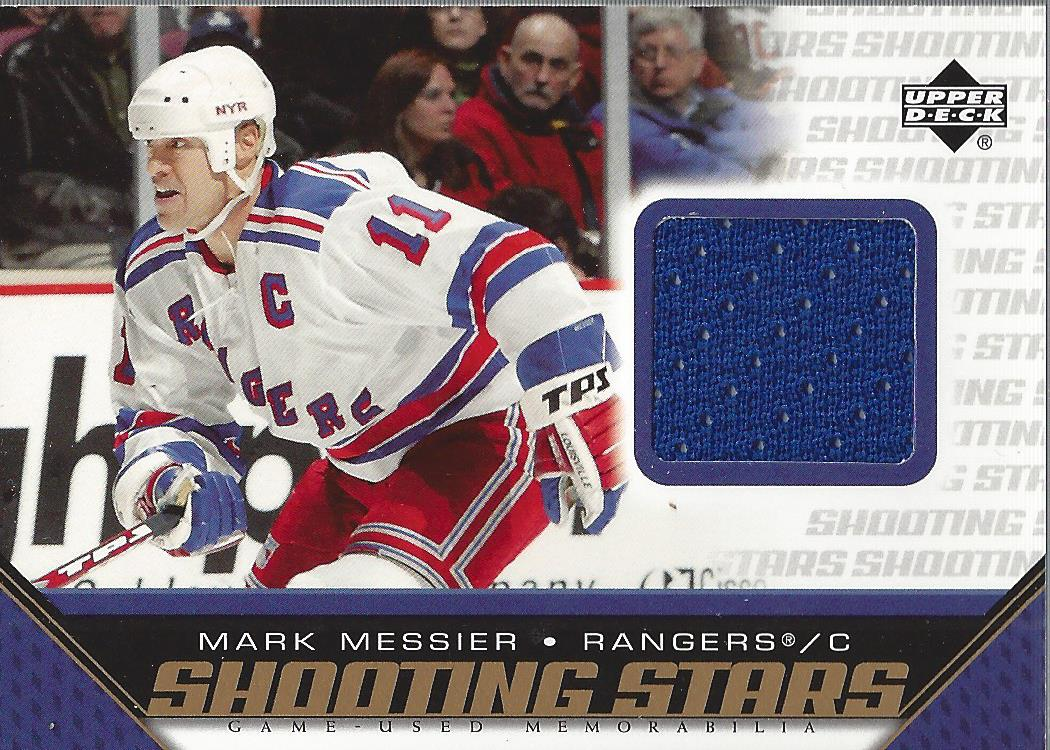 2005-06 Upper Deck Shooting Stars Jerseys #SMME Mark Messier