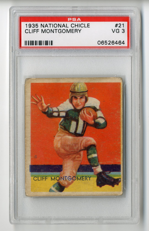 1935 National Chicle #21A Cliff Montgomery SN RC