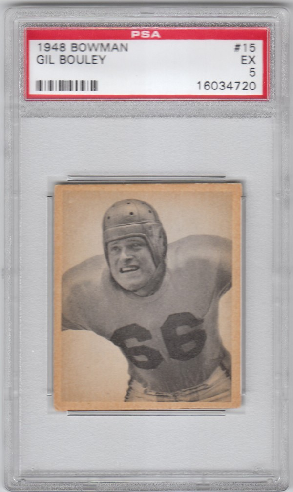 1948 Bowman #15 Gil Bouley SP RC