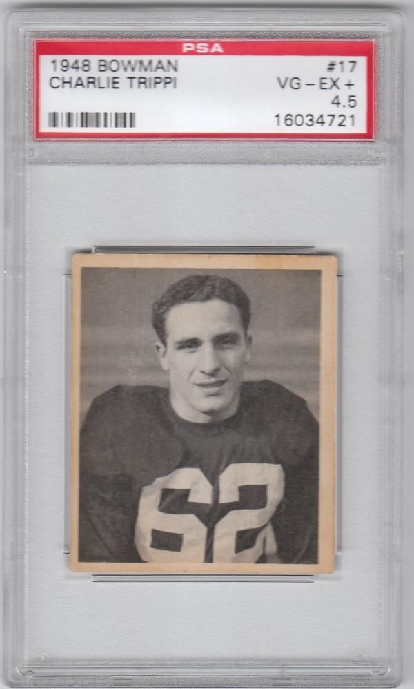 1948 Bowman #17 Charley Trippi RC